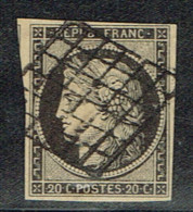 A7b-N°3 Sans Défaut - 1849-1850 Cérès