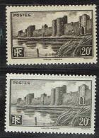 A8b-N°501 Et 501 ** Variété De Nuance - Varietà: 1941-44 Nuovi