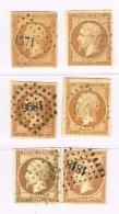A11b-4 N°13 A Et 2N°13B Nuances Différentes Tous Sans Défaut - 1853-1860 Napoleon III
