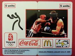 SIT 2008 Houilles 2 Cards Puzzle JO Coca Cola Mc Donalds Boxe 100 Exemplaires Willcom - Israel