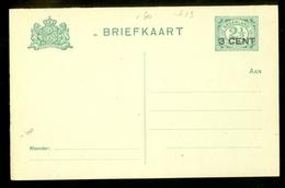 BRIEFKAART VOORDRUK 2 1/2 Ct Nvph Nr 55 Ongebruikt + OPDRUK 3 CENT  (11.448h) - Postal Stationery