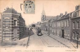 Amiens (80) - Chaussée Et Eglise Saint St Pierre - Amiens