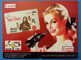 SIT 2007 Houilles 2 Cards Puzzle Coca Cola Pin Up 100 Exemplaires Willcom - Israel