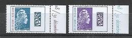France 2018 - Yv N° 5270 Et 5271 ** - Marianne L'engagée D'Yseult - Surchargée (valeurs Europe Et Monde) - Unused Stamps