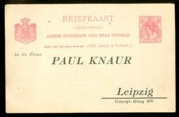 BRIEFKAART 5 Ct  VOORDRUK Nvph 60 Geadresseerd LEIPZIG Maar Niet Gelopen (11.448j) - Postal Stationery