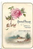 Chromo Chocolat Poulain. FLeur - Rose - Poulain