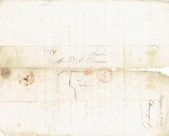 LAC De VILVORDE Du 10/07/1847 + Boîte Rurale M De DIEGHEM Vers LIEGE + Griffe SR Encadrée-lettre Signée CHAMPAGNE FRERES - 1830-1849 (Belgique Indépendante)