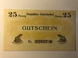 Allemagne Notgeld Neumuhlen 25 Pfennig - [ 3] 1918-1933 : République De Weimar