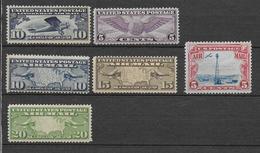USA - 1926/30 - POSTE AERIENNE YVERT 7/12 * MLH - COTE = 61 EUR. - - Air Mail