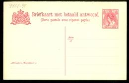 2x BRIEFKAART 1899 VOORDRUK 5 Ct Nvph Nr 60 Ongebruikt Met Antwoord  (11.448o) - Postal Stationery