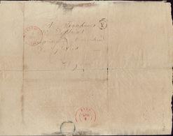 LSC Lettre De HOUFFALISE 4/11/1844 + Boîte Rurale Y De LIMERLE Vers LIEGE H. DESSAIN Imprimeur-éditeur à LIEGE - 1830-1849 (Belgique Indépendante)