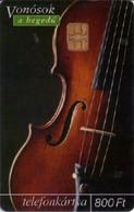 TARJETA TELEFONICA DE HUNGRIA. MUSICAL INSTRUMENTS. VIOLIN. HU-P-2003-70. (210) - Música
