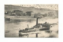CPA (38) VIENNE. Remorqueur Remontant Le Rhône - Remorqueurs