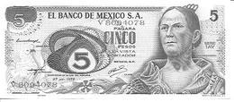Mexico  P-62c  5 Pesos  1972  UNC - Mexico