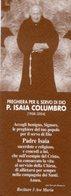 Santino Grande SERVO DI DIO PADRE ISAIA COLUMBRO - PERFETTO P83 - Religione & Esoterismo