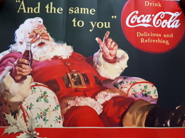 Coca Cola Plakat Werbung Weihnachten Weihnachtsmann - Advertising Posters