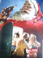 Coca Cola Plakat Werbung Weihnachten Weihnachtsmann Kinder - Affiches Publicitaires