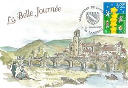 Cachet Commémoratif Marquisat De Lafayette - Langeac - 22/23 Juillet 2000 - Storia Postale