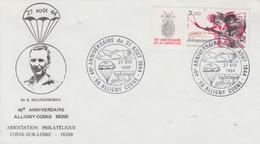 Enveloppe   FRANCE  40éme  Anniversaire  Du  27  Août  1944     ALLIGNY - COSNE   1984 - Guerre Mondiale (Seconde)