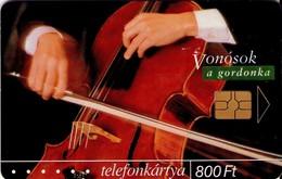 TARJETA TELEFONICA DE HUNGRIA. MUSICAL INSTRUMENTS. CHELLO. HU-P-2004-01. (209) - Música