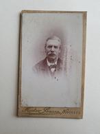 Ancienne Photo D'un Homme Belge Par Hector Basse - Bruxelles (Belgique) - 10,5x6,5cm - Portrait/Monsieur - Photos