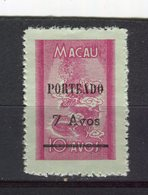 MACAO - Y&T Taxe N° 55(*) - Dragon - Macao