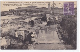 Morbihan - Quiberon - Le Fort De Port Haliguen Et La Colonne Commémorant La Victoire Des Troupes Républicaines - Quiberon