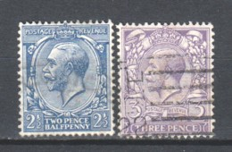 Great Britain 1912 Mi 131-132b Canceled - 1902-1951 (Kings)