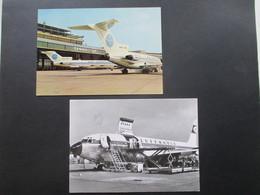 2 Echtfoto AK 1960er Jahre Supercargo Boeing 707 / 330 C Und Berlin Flughafen Tempelhof Pan America - 1946-....: Moderne
