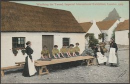 Waulking The Tweed, Imperial International Exhibition, London, 1909 - Valentine's Postcard - Exhibitions