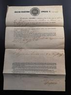APÓLICE SEGURO COMPANHIA GARANTIA ANO 1854 - Portugal