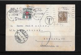 1912 DRUCKSACHE → Bial & Freund Breslau Nach Zürich   ►Strafporto 5Cts.◄ - Portomarken