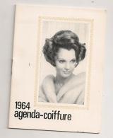 1964 AGENDA COIFFURE  ROGER LAUGERO  PARIS / MODE UNE PHOTO DE COIFFURE POUR CHAQUE MOIS   B391 - Calendars