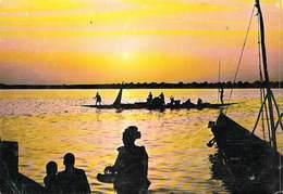 Afrique  MALI Coucher De Soleil Sur Le Fleuve Niger (pirogue Sunset)(- Editions DELROISSE) *PRIX FIXE - Mali