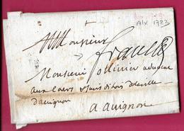 MARQUE FRANC MANUSCRIT AIX EN PROVENCE 1723 BOUCHES DU RHONE LENAIN N°13 INDICE 14 - 1701-1800: Precursors XVIII