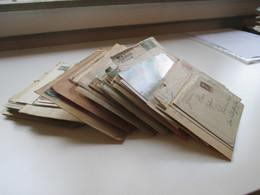 Belege Posten Altdeutschland / Deutsches Reich Und Etwas Nachkrieg! Insgesamt 250 Belege. Bedarf / Firmenbriefe Usw. - Briefmarken