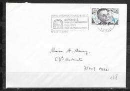 LOT 1810539 - N° 1858 SUR LETTRE DE METZ DU 21/03/76 - FLAMME - Poststempel (Briefe)