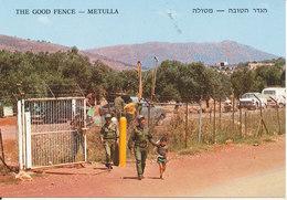 Israel Postcard The Good Fence Metulla 13-7-1980 - Israel