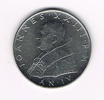 &  VATICAANSTAD  100 LIRE  PAUS  JOANNES  XXIII 1962 - Vatican
