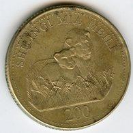 Tanzanie Tanzania 200 Shilingi 1998 KM 34 - Tanzanie