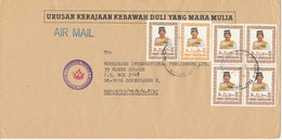 Brunei Darussalam Cover Sent To Denmark 1985 - Brunei (1984-...)