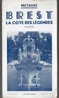 Brest (29 Finistère)  Dépliant LA COTE DES LEGENDES 1938 (PPP8588) - Folletos Turísticos