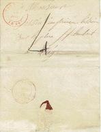 LAC De BASTOGNE 30/01/1849  Vers LIEGE H. DESSAIN éditeur-imprimeur - Port De 4 Décimes - Signé BLANCHARD - 1830-1849 (Belgique Indépendante)