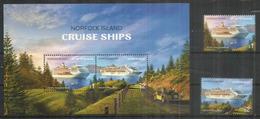 Norfolk Island Cruise Ships (Pacific Explorer,Seven Seas Marina) B-F + Série Timbres Neufs ** 2018 - Ile Norfolk