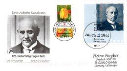 "BRD Schmuck-FDC  ""125.Geburtstag Eugen Bolz"", Mi. 2571 ZF ESSt 9.11.2006 BERLIN - FDC: Covers"