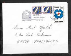 LOT 1810540 - N° 1991 SUR LETTRE DE METZ DU 18/05/78 - FLAMME - Marcophilie (Lettres)