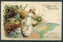 """German Empires 1900 Meteor/Licht Künstler Anlaßkarte Mit Klaren Tagesstempel""""Potsdam 1.1.00 1-2 V. """"1 Karte - Halt Gegen Das Licht/Durchscheink."""
