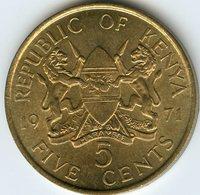Kenya 5 Cents 1971 KM 10 - Kenya