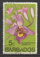 Barbados 1974 Orchids 5 C Multicoloured SW 370 O Used - Barbados (1966-...)