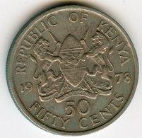 Kenya 50 Cents 1978 KM 13 - Kenya